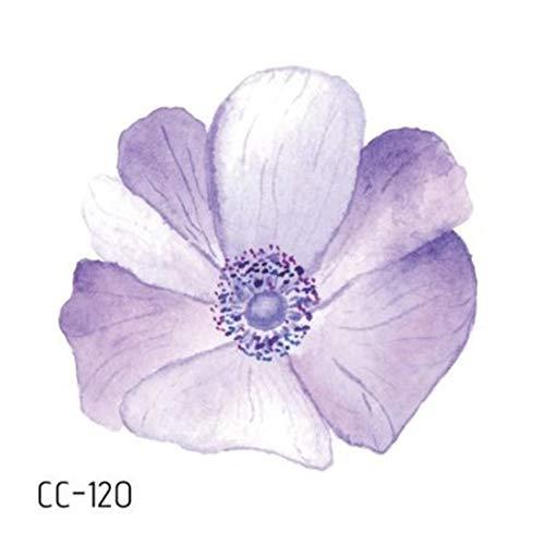 süße kleine frische Blume Tattoo Aufkleber EIN Schlüsselbein Abdeckung Narbe Aufkleber 20 6x6cm ()