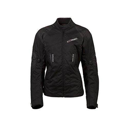Lookwell pour femme Jade textile Veste d'équitation de moto, Noir, taille 36/08