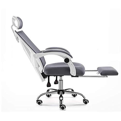 KQKLQQ Gaming Chair Bürostuhl High Back Computer Stuhl PU Leder Schreibtischstuhl PC Racing Executive Ergonomisch Einstellbar (Color : Gray)