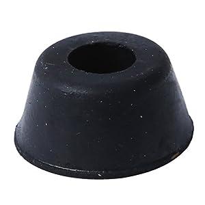 Kamenda 10 Stueck 21mm x 10mm Einbau Konische Gummifuesse Stossstangen-Pads Schwarz