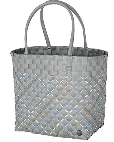 Handed By - Shopper/Tasche/Einkaufskorb/Reisetasche/Flechtkorb - Allure - grau - 31x32x20 cm