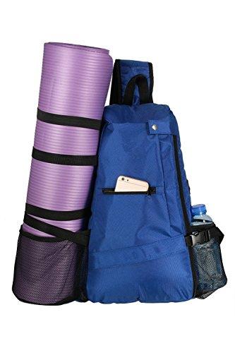 AMAGGIGO Yogatasche Yoga Matte Tasche Rucksack Yogamattentasche für Hot Yoga, Pilates, Fitnessstudio (Blau)