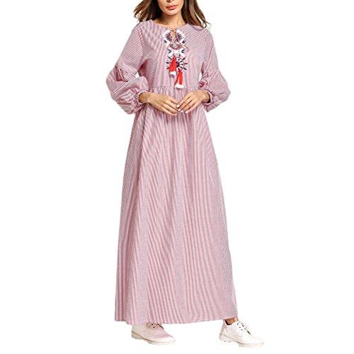 Zhuhaitf Islamische Marokkanische Dubai Kaftan Malay Kleider Caftans Maxikleid für Muslime Frauen Damen - Marokkanische Brust