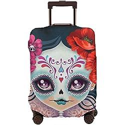 Amelia Sugar Skull Funda de equipaje de viaje para 26 - 28 pulgadas