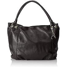 CTM Borsa elegante a sacca da donna in vera pelle morbida italiana made in Italy 35x29x15 Cm