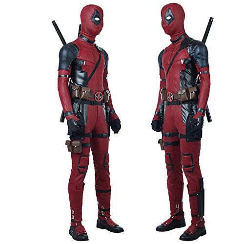 (DuHLi Deadpool 2 Suit folgt Halloween Cosplay Halloween Maskerade Kostüm Requisiten Kostüm,L)