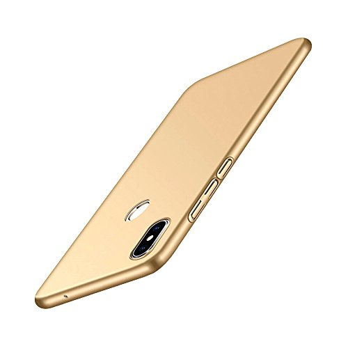 QINPIN Mattierter, ultradünner, gummierter PC-Hardtelefon-Abdeckungs-Fall für Xiaomi8 6.21inch