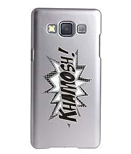 KolorEdge Printed Back Cover For Samsung Galaxy A5 - Silver (2259-Ke15147SamA5Silver3D)