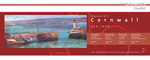 Aquarellblock Cornwall matt 450g/m², 20x50cm quer, 10Blatt