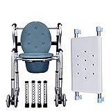 NJSD Camminatore Disabile, WC Walker Carico di Sicurezza 180 kg Deambulatore Pieghevole Camminatore Anziano A Quattro Zampe Canna Ruote
