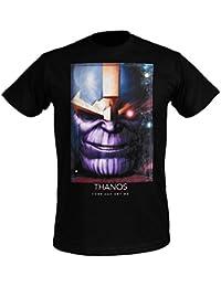 Avengers Mens T-Shirt Thanos Titanium Marvel Cotton Black