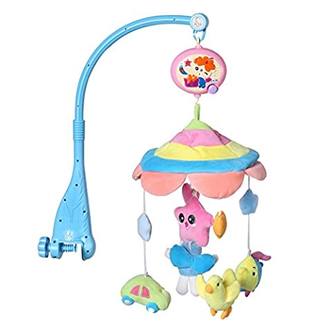 Musical Mobile, YKS Baby Boy & Girl Bedding Rattle Toy Music Light Flash Bed Ring with Hanging