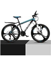 QJ Montaña para Bicicleta Varón Y Hembra Adulta luz del Camino Que compite con 24 Estudiante Urban Speed Choque de Bicicletas,a,24in