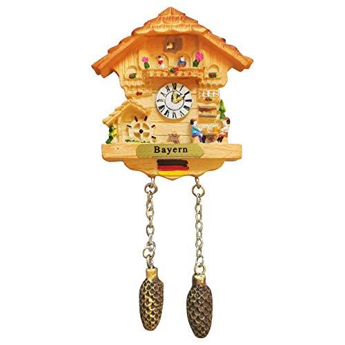 Ciffre Kuckucksuhr Magnet Polyresin Kühlschrank Beige Haus - Bayern
