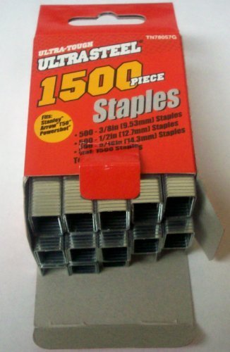 ULTRA STEEL Ultra Tough T50 Staples - 1,500 Assorted Sizes by Ultra Steel