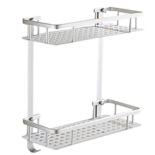 Kompakt-regale (LLZXBATHROOMX Badezimmerregal Kompaktes Regal Rechteckiges Lagerregal Auf Der Toilette Küche (Color : Silver))