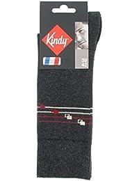 Mi-chaussettes bracelet en coton - Couleur - Anthracite, Pointure - 39-42