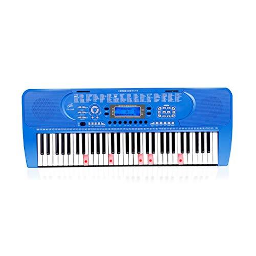 LINGLING-Tastatur Kinder Intelligente Tastatur Anfänger Musik Toy Boys und Mädchen Klavier (Farbe : Blau, größe : Smart Version+Zither)