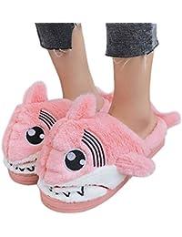 9d6785d562a50 ❤️Chaussons Hiver Plush Slippers, Amlaiworld Unisex Lovely Requin Femme  Hiver Intérieure Chaussons Pantoufles Peluche