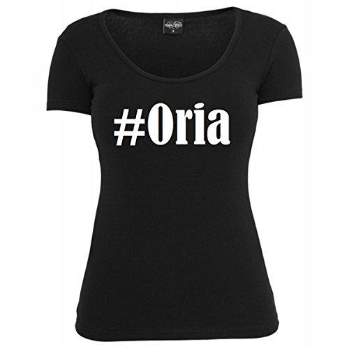 T-Shirt #Oria Hashtag Raute für Damen Herren und Kinder ... in den Farben Schwarz und Weiss Schwarz