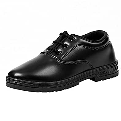 Liberty Boy Black Lace Up School Shoes (Size 1C UK/Age 7-8 Years/Length 21.3 Cm)