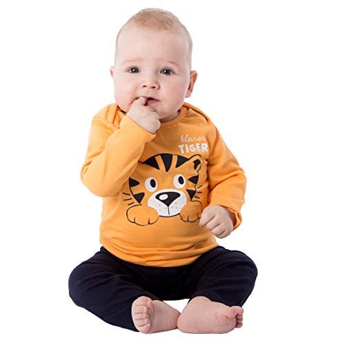 Baby - Jungen Schlafanzüge Kleiner Tiger, Orange, 86/92