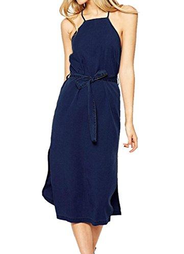 Valin SY60610 femme sexy robe mini Bleu