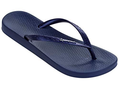 Blauen Gummi-flip-flops (Ipanema Anatomic Tan)