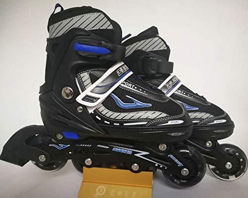TSMDHH Skates, Adult Skates, Rot Und Blau Zweifarbiger Aluminiumrahmen Verstellbare Rollschuhe
