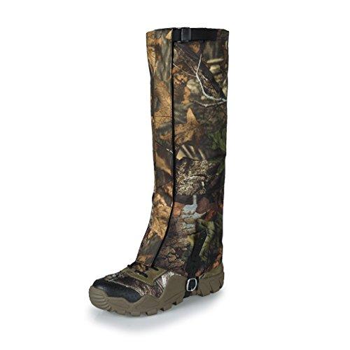 Sharplace Paire De Guêtres Chaussure Étanche à l'eau pour Camping Randonnee Chasse Escalade - Camouflage, 40 x 20,5 cm