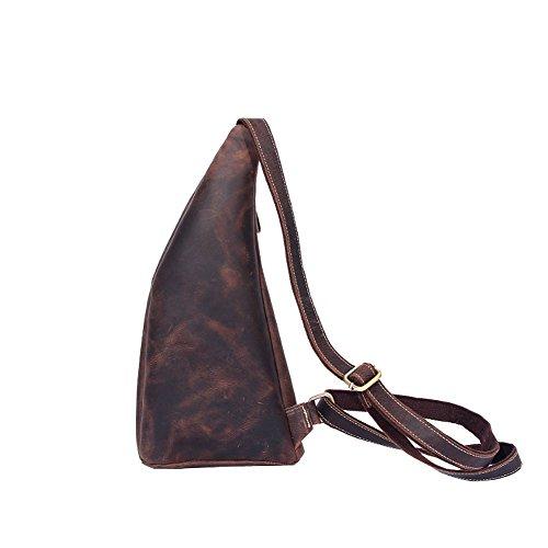 Othilar Leder Damen Herren Klein Tasche Schultertasche Umhängetasche Rucksack für Outdoor Sport (L: 22 x 40 x 8,5 cm) L: 22 x 40 x 8,5 cm