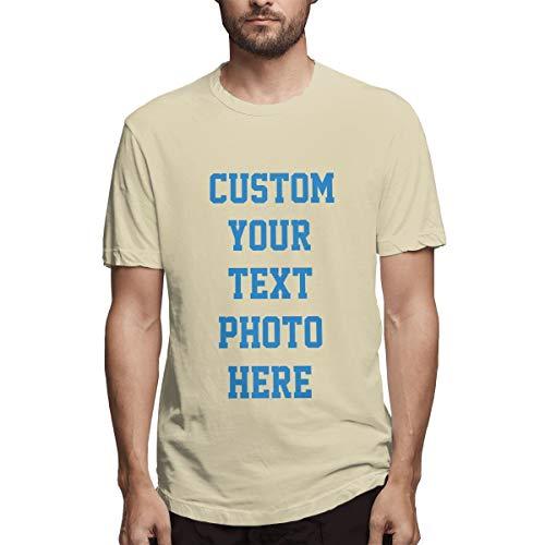Personalisierte Herrenbekleidung - 2-seitiges T-Shirt - Gestalten Sie Ihr persönliches T-Shirt(Natural S) -