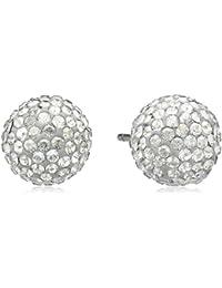 Swarovski Damen-Ohrstecker Pop Stud Kristall Silver Shade PVD gold 0.8 cm 1156233