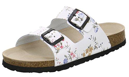 AFS-Schuhe 2100, sportliche Damen Pantoletten, praktische Arbeitsschuhe aus Leder