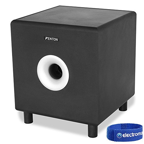 "Fenton SHFS08B Active Powered Home Theatre Bass Sub Hifi Subwoofer 8"" 200W"