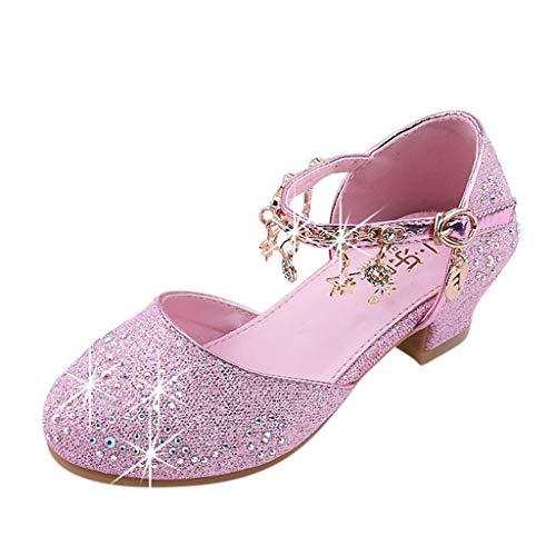 Liqiqi Bambine Scarpe Sandali Scarpe Premio Scarpe da Ballo con Tacco - Scarpe da Principessa - Ballo Scarpe Performanti | presiedere passerella - 4-15 Anni Prima Infanzia Ragazza