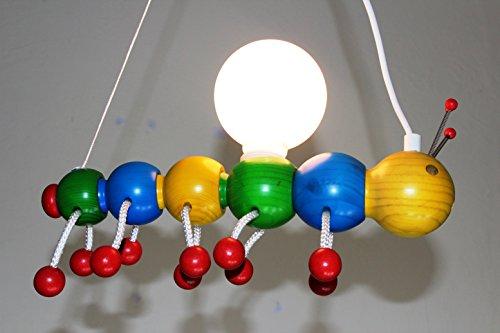-chenille-en-bois-multicolore-suspension-pour-enfants-bois-massif
