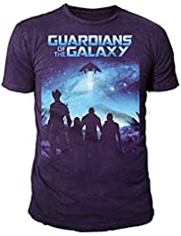 Marvel Comics - Guardians of the Galaxy Herren T-Shirt - Movie (Schwarz) (S-XL)