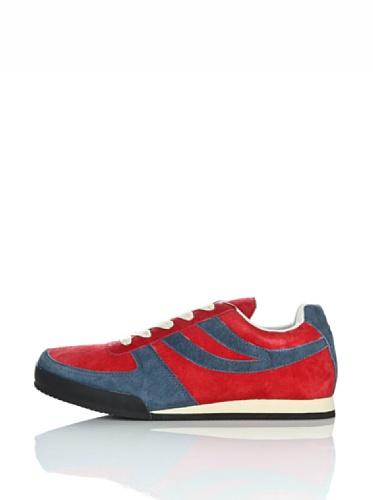 Sneakers - 4431-pigsueu RED-BLUE