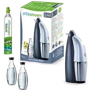 SodaStream Wassersprudler Penguin Family Pack (mit 2 x CO2-Zylinder für 60L und 3 x 0,6L Glaskaraffen)