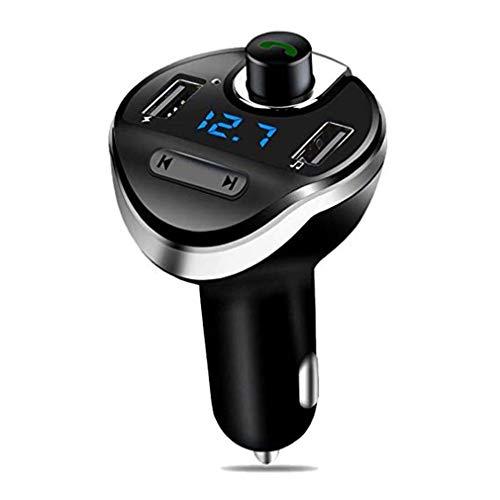 Bluetooth FM Transmitter/kabelloses Kfz-Ladegerät/TF-Karte/Bluetooth-Freisprecheinrichtung/Ein-Tasten-Bedienung/Großes Display/Musik abspielen/Dual Smart USB Charging -