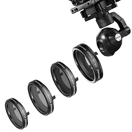 Galleria fotografica Neewer 4pezzi kit di filtri per Yuneec Typhoon Q5004K fotocamera CGO3, Typhoon H fotocamera, include: ND4, ND8, UV e filtro CPL, realizzato in vetro ottico e telaio in lega di alluminio