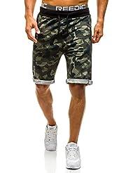 BOLF – Pantalons courts de sport – Shorts – Militaire – Camouflage – Motif – Homme [7G7]