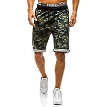 BOLF Hombre Pantalones Cortos Shorts Militar Camuflaje Deportivo 7G7 Motivo