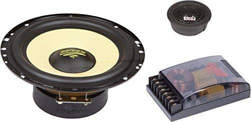 Audio System x-ion 165-Koaxiallautsprecher für Auto 100W, Schwarz und Gelb -