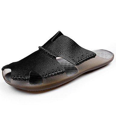 Athletic Shoes Uomo Primavera Autunno PU comfort Casual Sandali Walking piatto HeelBlack bianchi sandali US8 / EU40 / UK7 / CN41