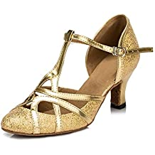 piel sintética Minitoo QJ6133  talla 36.5 Minitoo QJ6133–Zapatos de bailes latinos para mujer sTDka1G