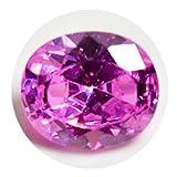Gemsonclick Pink Cubic Zirkon Edelstein 6 Karat lose ovale Form Birthstone Schmuck Machen bei Großhandel