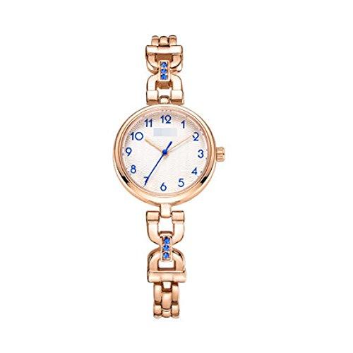 PIAOL Frauen Kristall-Akzent Tone Bangle Watch Schmuck Armband Armbanduhren,2-OneSize (Frauen Für Zwei-ton-uhren)