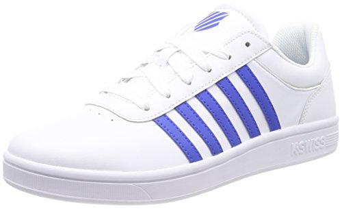 K-Swiss Herren Court Cheswick Sneaker, Weiß (White/Strong Blue 122), 42 EU